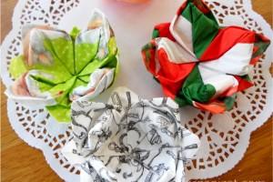 Origami din servetele