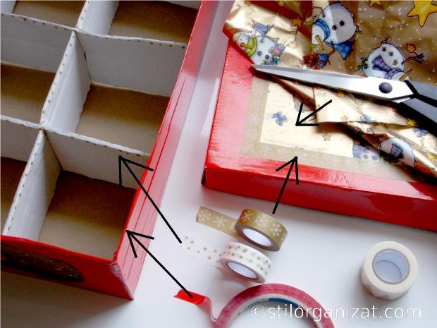 cutie cu globuri diy