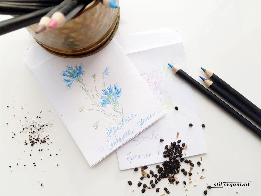 colectarea semintelor in plicuri personalizate