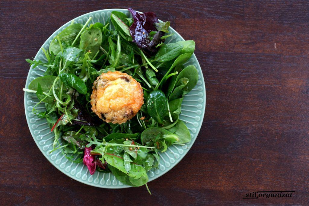 frittata in cuib de salata