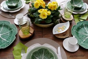 Masă în verde, de primăvară